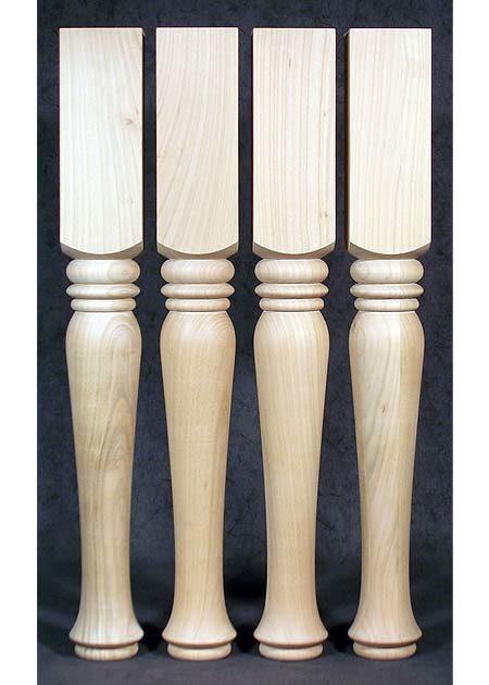 Gedrechselte Tischbeine Holz, romantisch, Kirsche, TB59