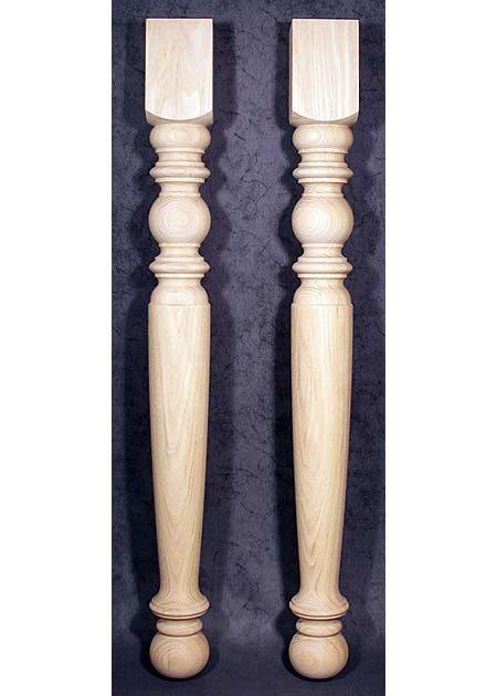 Tischbeine Holz, 9x9cm, antik, Eiche, TB79