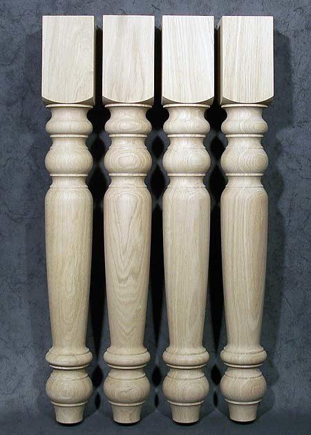 Tischbeine Holz, antik, gedrechselt, TB02