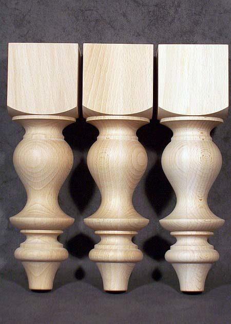 Tischbeine Holz mit glatter Oberflaeche, grazioes, kurz, TB63