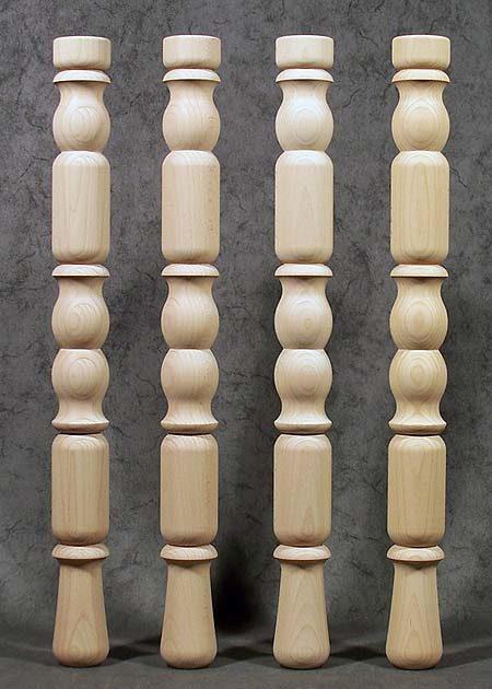 Tischbeine Holz von veraltetem Stil, Kirsche, TB12
