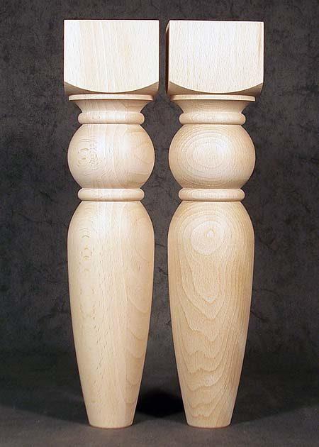 Tischbeine aus Buchenholz, kurz, staemmig, TB06