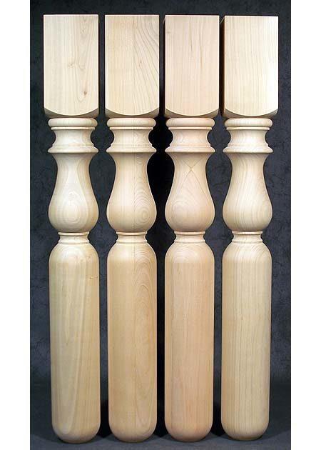 Tischbeine aus Holz, gedrechselt, dekorativ, Kirsche, TB58