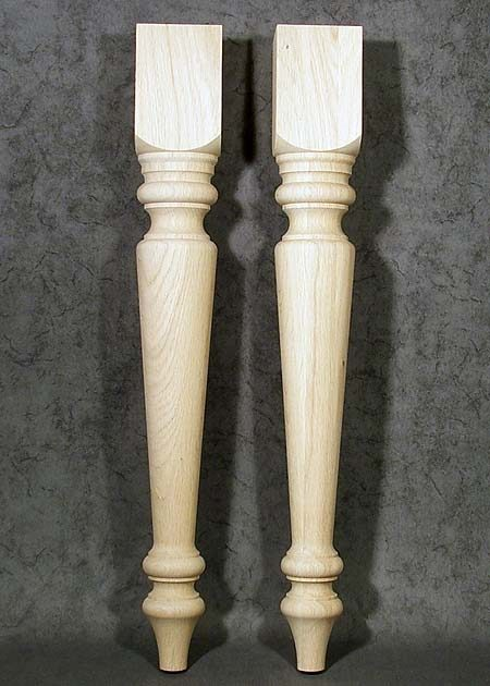 Tischbeine aus Holz, rustikal, konisch, Eiche, TB69
