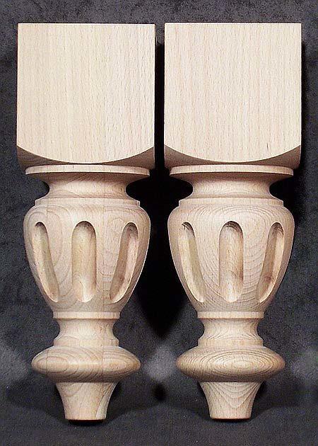 Tischbeine aus Holz vom alten Stil, niedrig, TB62