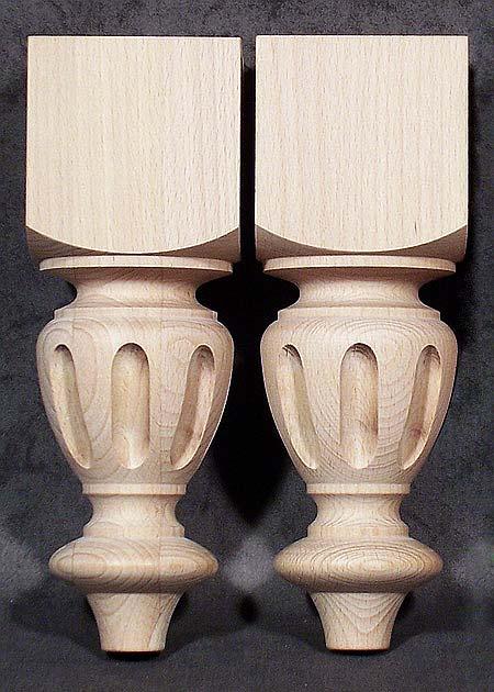 Tischbeine aus Holz vom alten Stil, niedrig, TB62 ...
